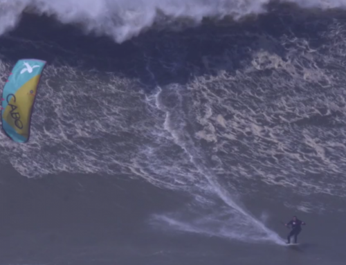 Nuno Figuieredo is First Kite Surfer to Ride Nazare Monster Waves