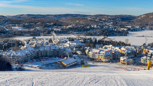 Mt. Tremblant, near Montreal, is a ski resort owned by Intrawest. Photo Source: Roger Mackertich, Wikipedia.com