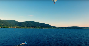 Is it still kite surfing if you're pulled by a hot air balloon?