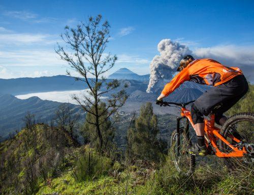 Watch This Mountain Biker Ride to Erupting Volcano