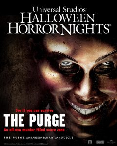The Purge is a new addition to Universal Studios Horror Nights.