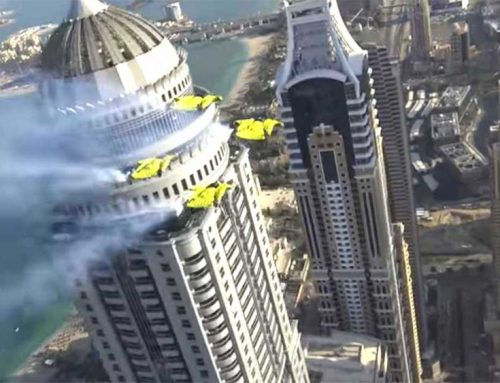 Wingsuit Flying Through Dubai Skyscrapers