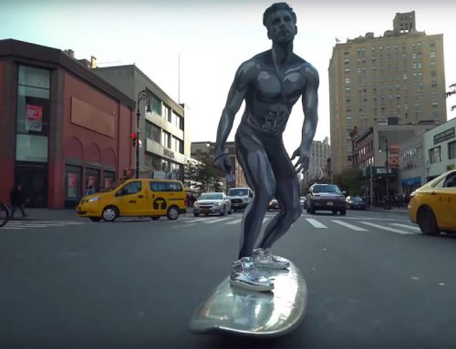 Silver Surfer Rides Through New York City (Really)
