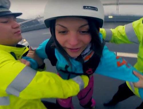 Otmashka Dubinina Gives Zero FCCKS in This Stunning Base Jumping Video